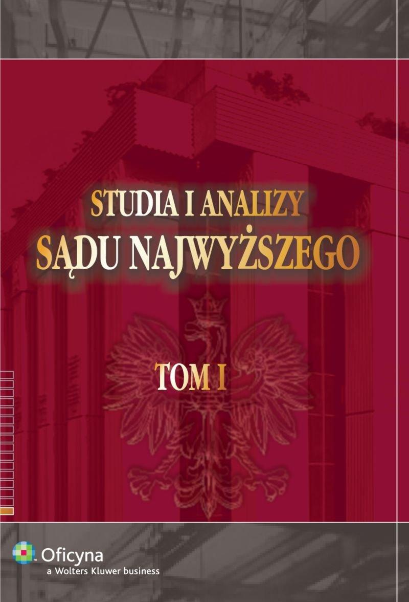 Studia i Analizy Sądu Najwyższego. TOM I - Ebook (Książka PDF) do pobrania w formacie PDF