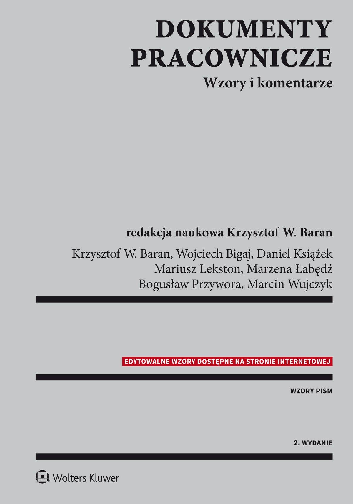 Dokumenty pracownicze. Wzory i komentarze - Ebook (Książka PDF) do pobrania w formacie PDF