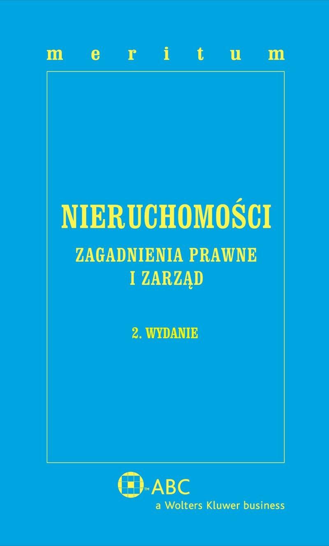 MERITUM Nieruchomości. Zagadnienia prawne i zarząd - Ebook (Książka PDF) do pobrania w formacie PDF