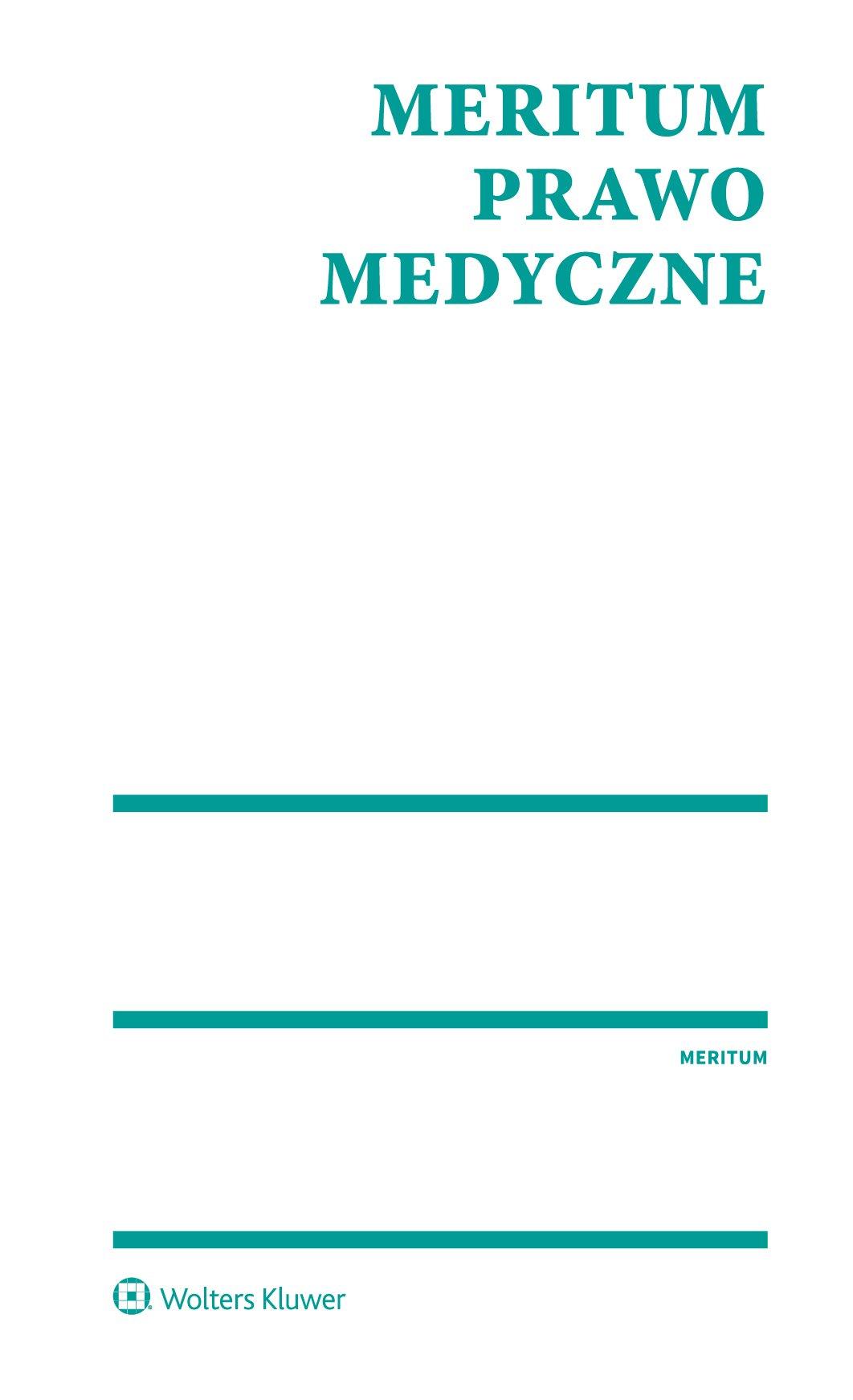 MERITUM Prawo medyczne - Ebook (Książka PDF) do pobrania w formacie PDF