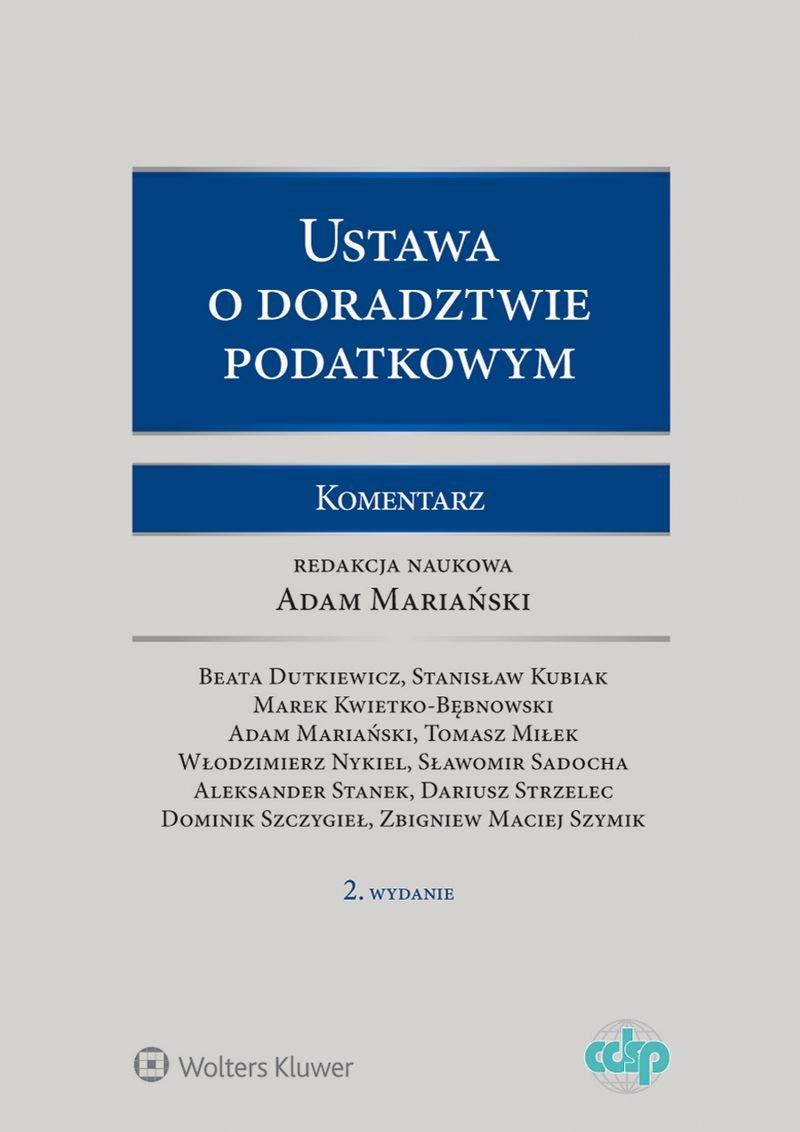 Ustawa o doradztwie podatkowym. Komentarz - Ebook (Książka PDF) do pobrania w formacie PDF