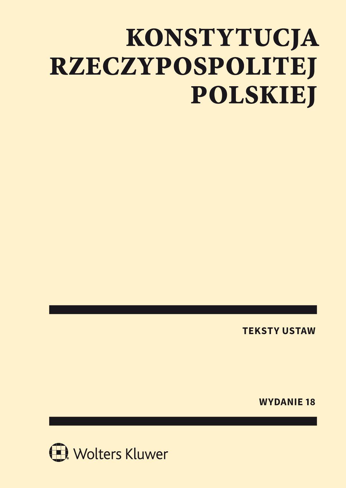 Konstytucja Rzeczypospolitej Polskiej. Przepisy - Ebook (Książka PDF) do pobrania w formacie PDF