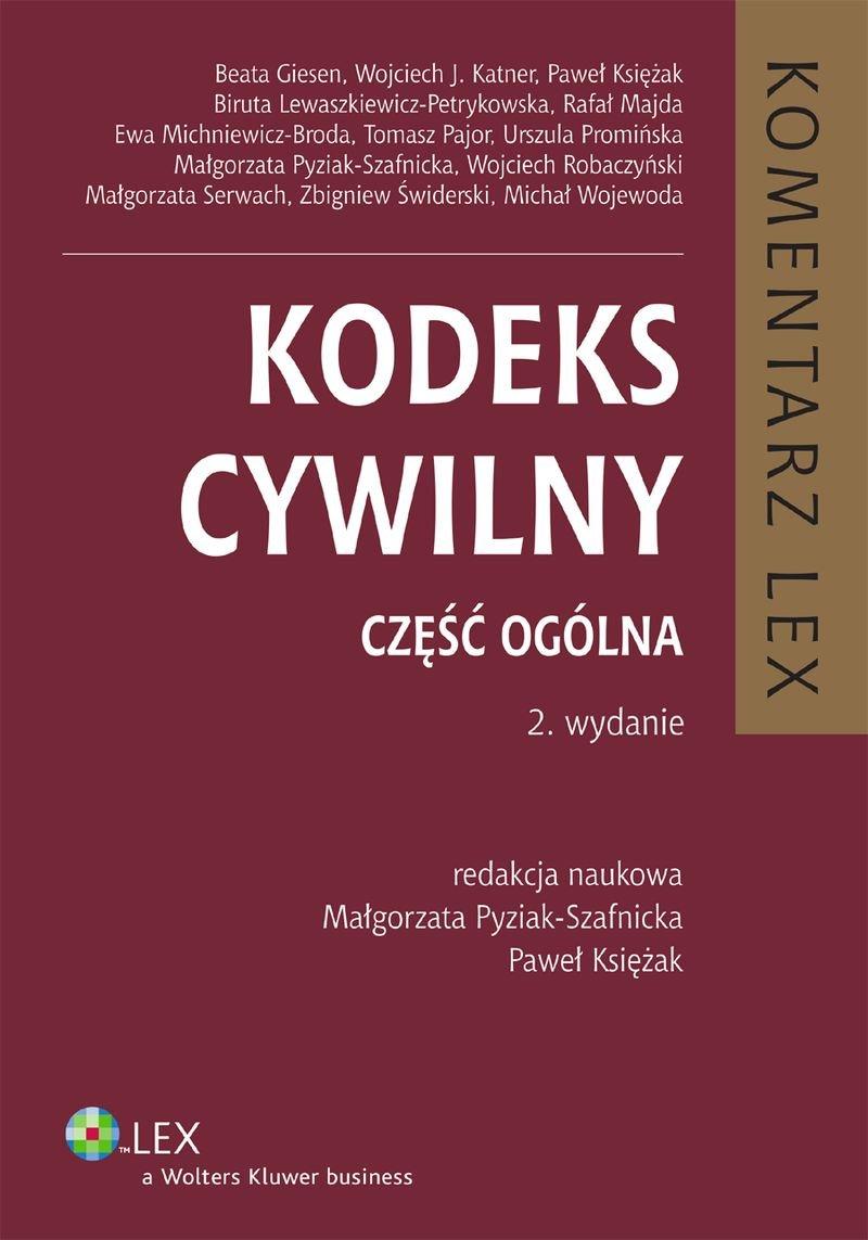 Kodeks cywilny. Komentarz. Część ogólna - Ebook (Książka PDF) do pobrania w formacie PDF