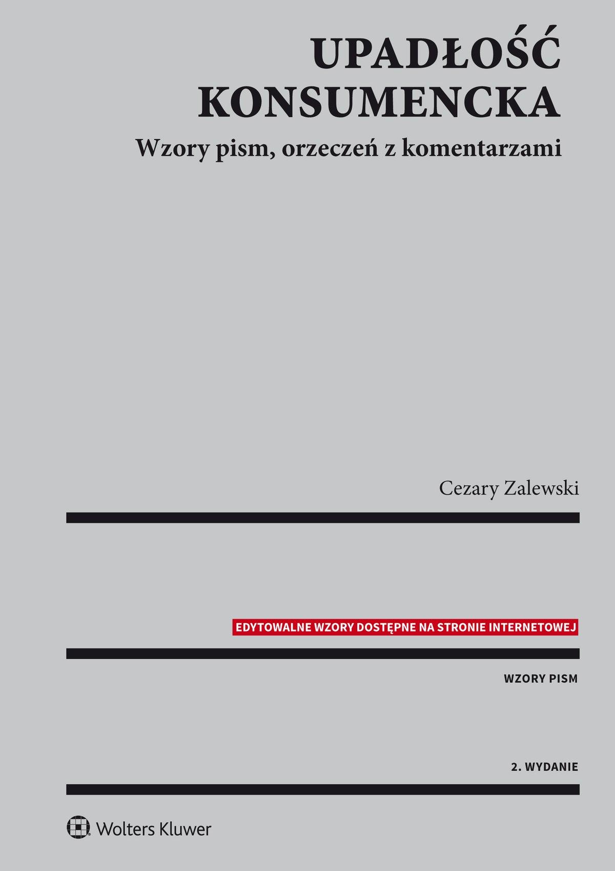 Upadłość konsumencka. Wzory pism, orzeczeń z komentarzami - Ebook (Książka PDF) do pobrania w formacie PDF