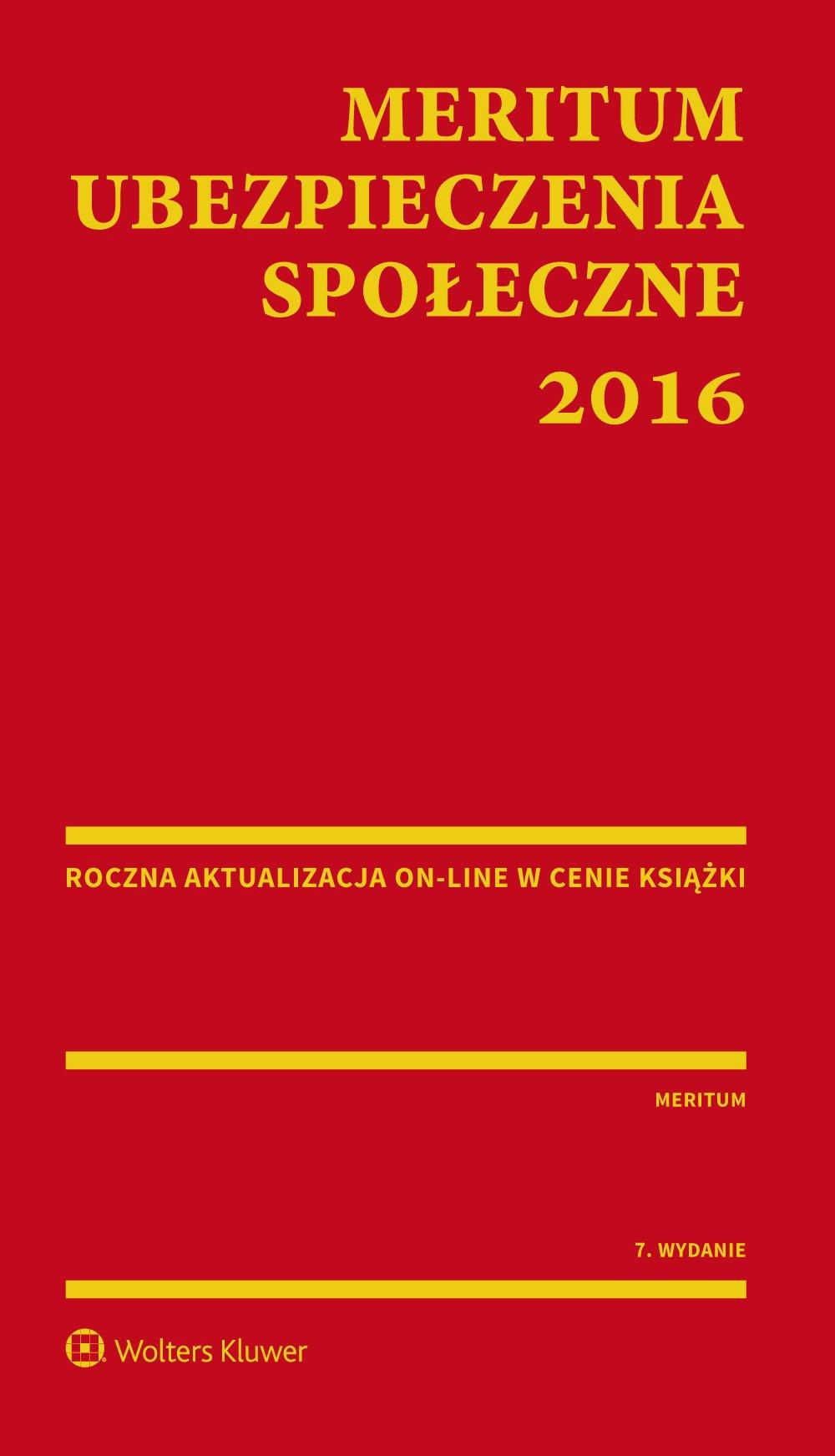 MERITUM Ubezpieczenia społeczne 2016 - Ebook (Książka PDF) do pobrania w formacie PDF