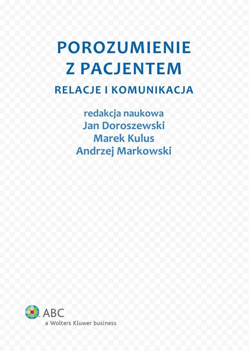 Porozumienie z pacjentem. Relacje i komunikacja - Ebook (Książka PDF) do pobrania w formacie PDF