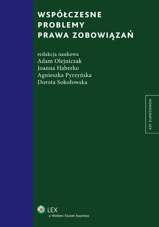 Współczesne problemy prawa zobowiązań - Ebook (Książka PDF) do pobrania w formacie PDF