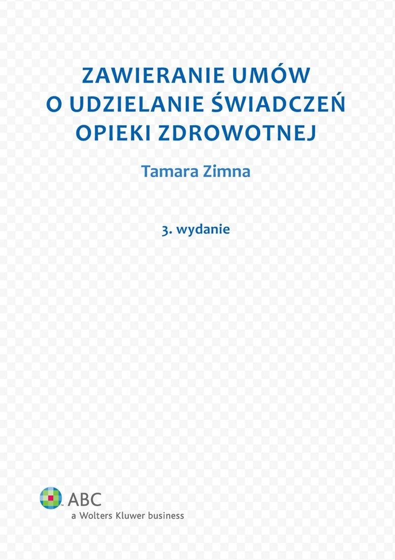 Zawieranie umów o udzielanie świadczeń opieki zdrowotnej - Ebook (Książka PDF) do pobrania w formacie PDF
