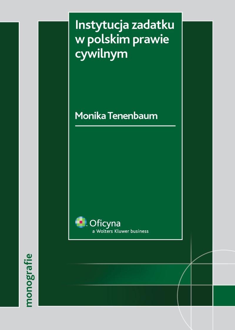 Instytucja zadatku w polskim prawie cywilnym - Ebook (Książka PDF) do pobrania w formacie PDF