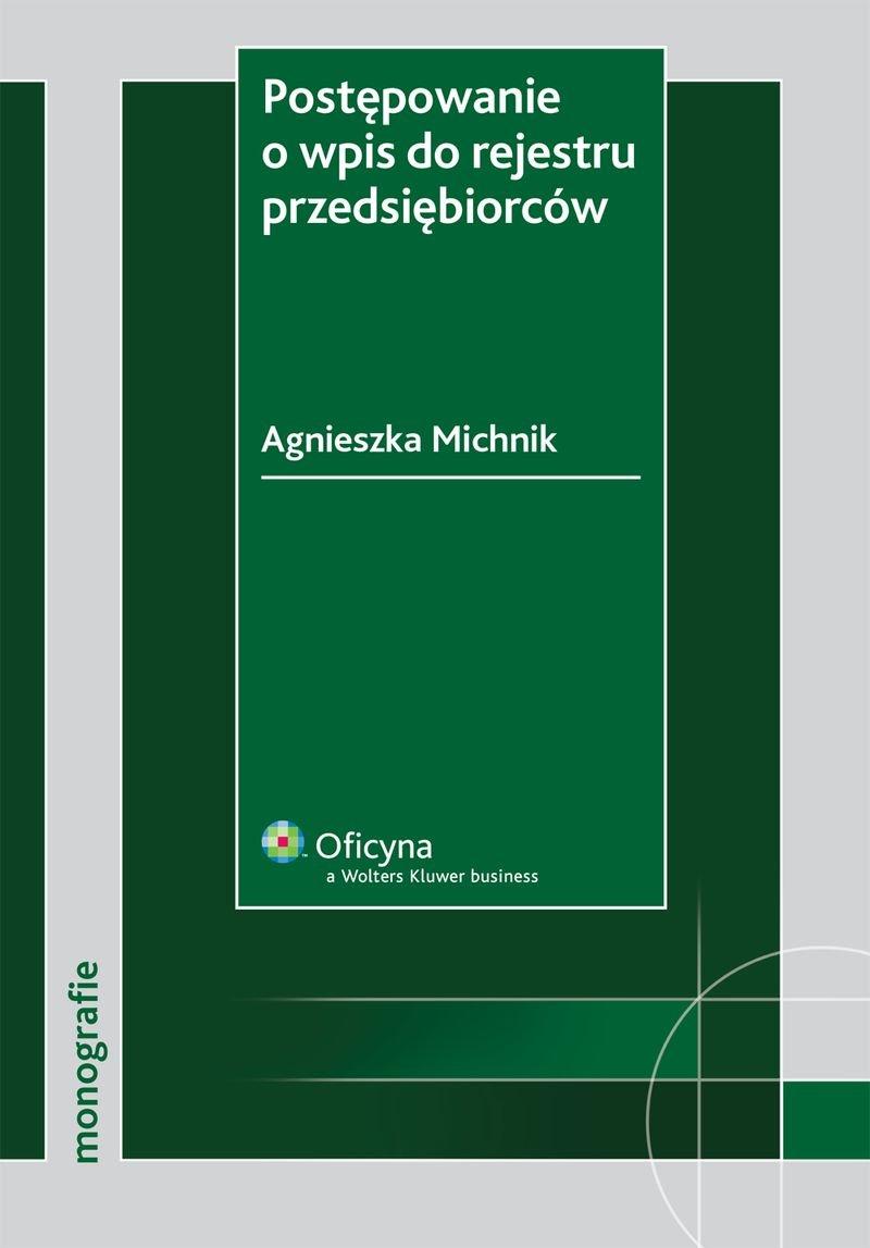 Postępowanie o wpis do rejestru przedsiębiorców - Ebook (Książka PDF) do pobrania w formacie PDF