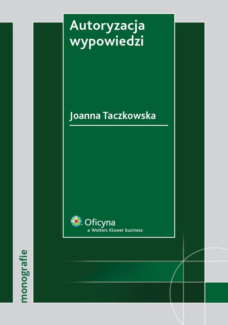 Autoryzacja wypowiedzi - Ebook (Książka PDF) do pobrania w formacie PDF