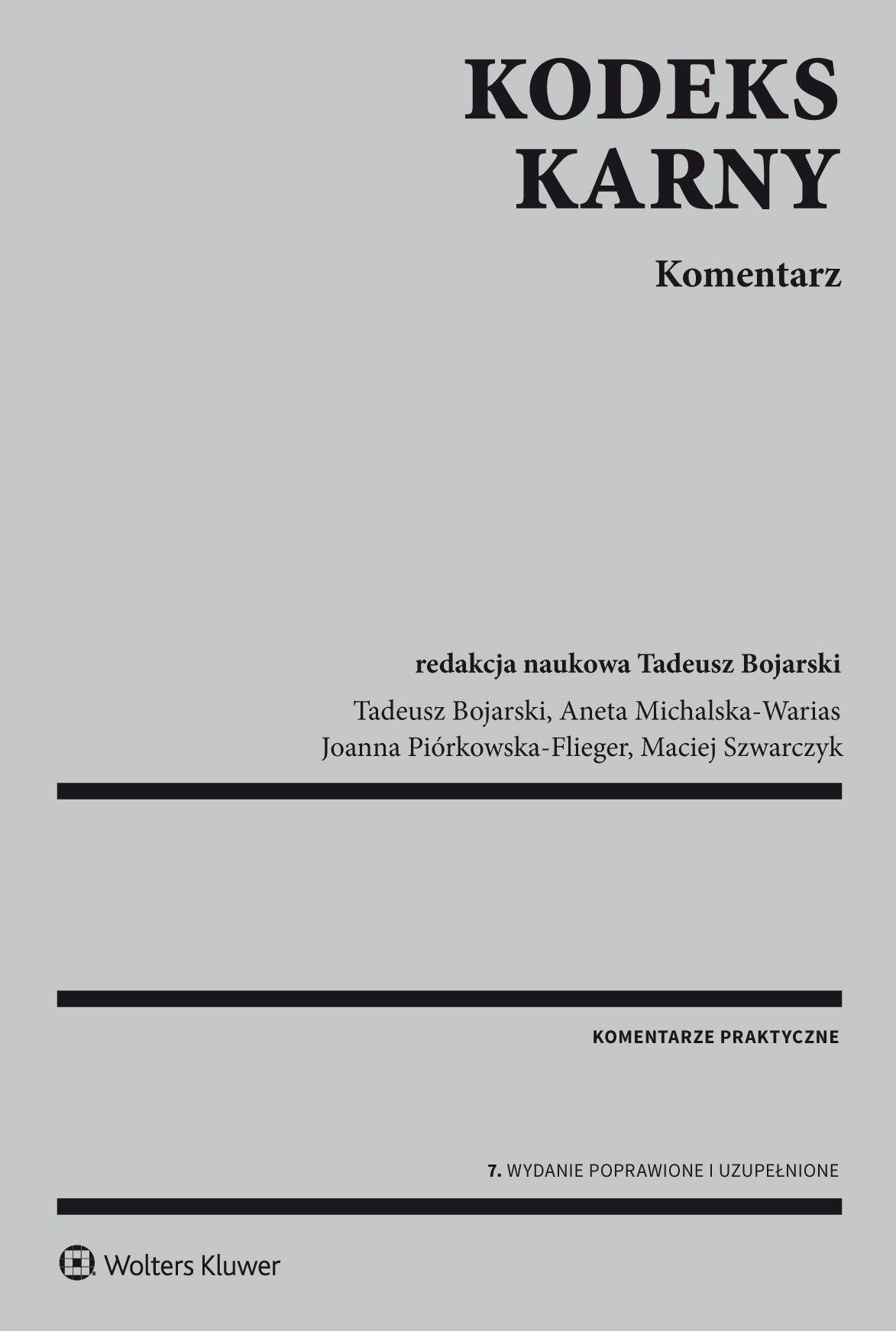 Kodeks karny. Komentarz - Ebook (Książka PDF) do pobrania w formacie PDF
