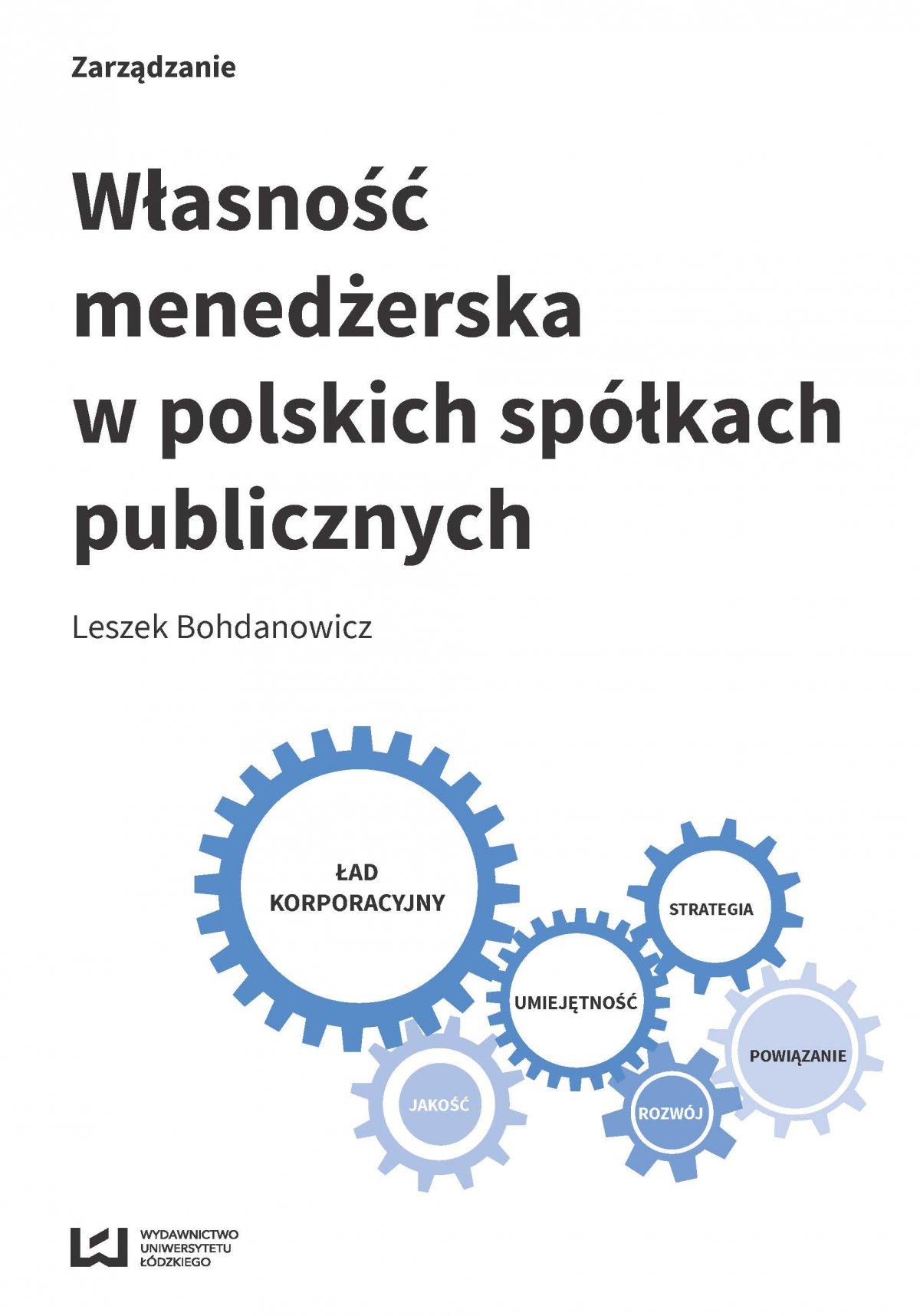 Własność menedżerska w polskich spółkach publicznych - Ebook (Książka PDF) do pobrania w formacie PDF