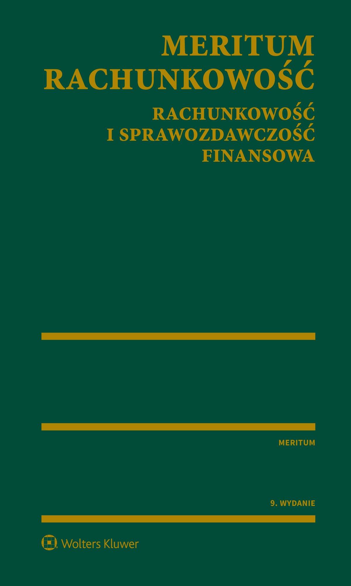 MERITUM Rachunkowość. Rachunkowość i sprawozdawczość finansowa - Ebook (Książka PDF) do pobrania w formacie PDF