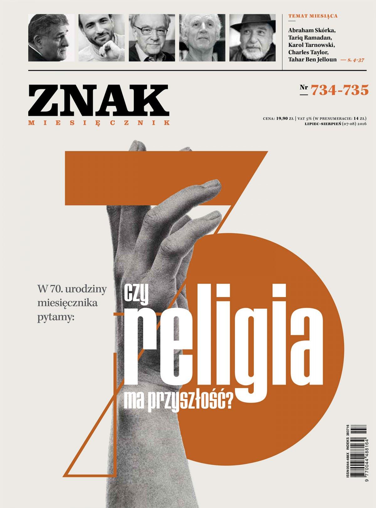 Miesięcznik Znak nr 734-735. Czy religia ma przyszłość? - Ebook (Książka PDF) do pobrania w formacie PDF