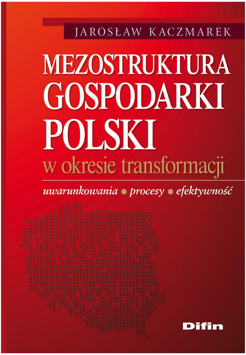 Mezostruktura gospodarki Polski w okresie transformacji. Uwarunkowania, procesy, efektywność - Ebook (Książka PDF) do pobrania w formacie PDF