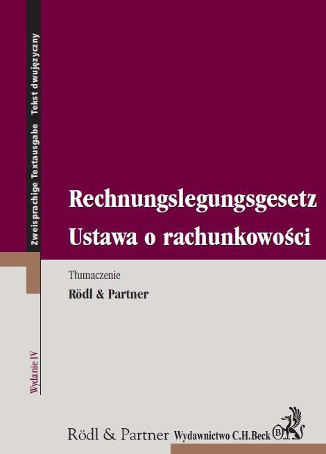 Ustawa o rachunkowości. Rechnungslegungsgesetz - Ebook (Książka PDF) do pobrania w formacie PDF