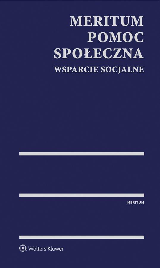 MERITUM Pomoc społeczna. Wsparcie socjalne - Ebook (Książka PDF) do pobrania w formacie PDF