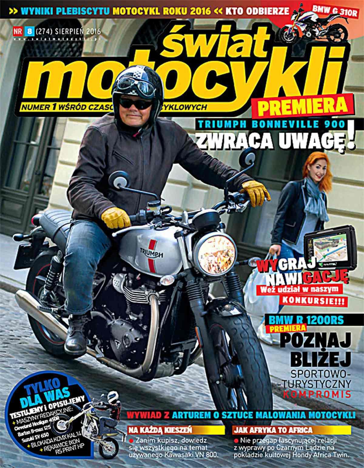 Świat Motocykli 8/2016 - Ebook (Książka PDF) do pobrania w formacie PDF
