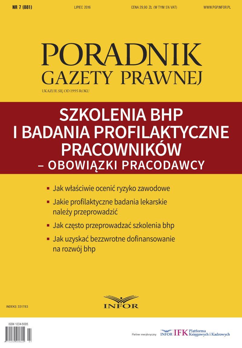 Szkolenia BHP i badania profilaktyczne pracowników – obowiązki pracodawcy - Ebook (Książka PDF) do pobrania w formacie PDF