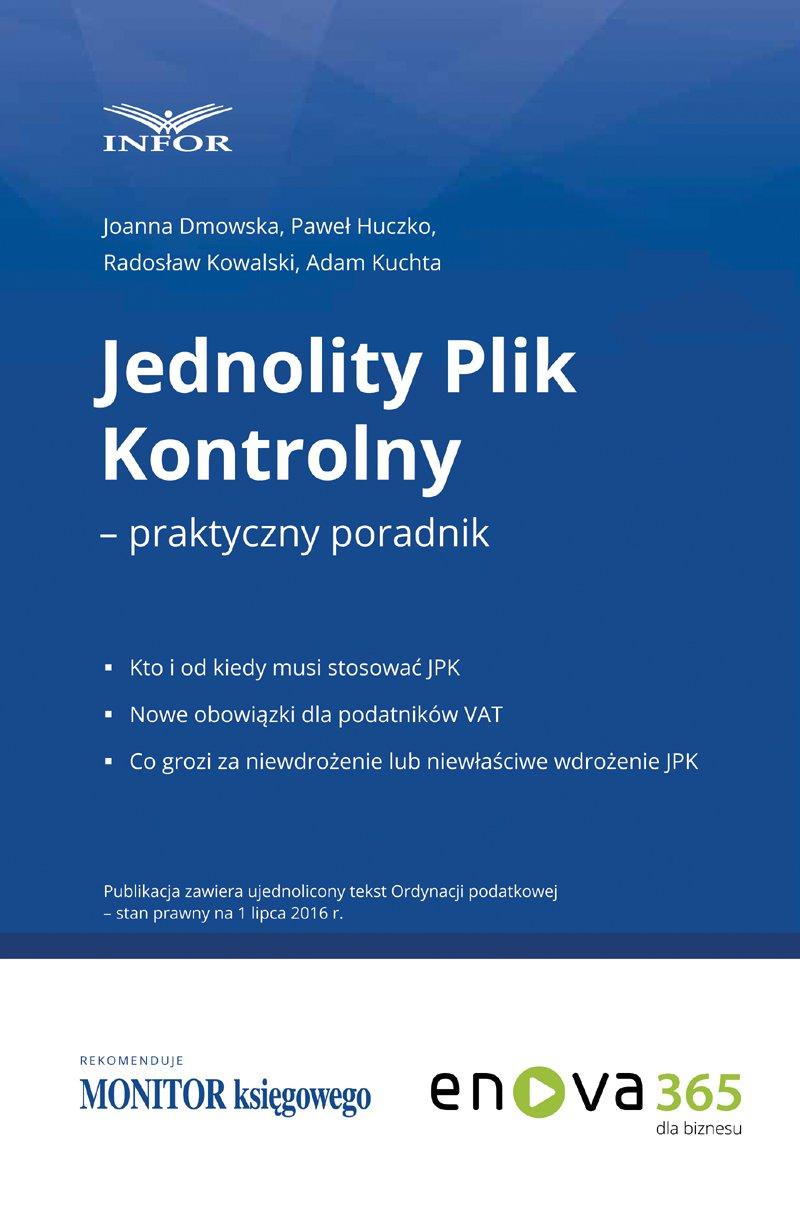 Jednolity plik kontrolny - Ebook (Książka PDF) do pobrania w formacie PDF