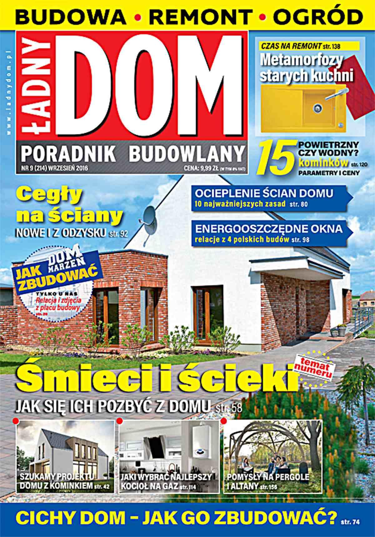 Ładny Dom 9/2016 - Ebook (Książka PDF) do pobrania w formacie PDF