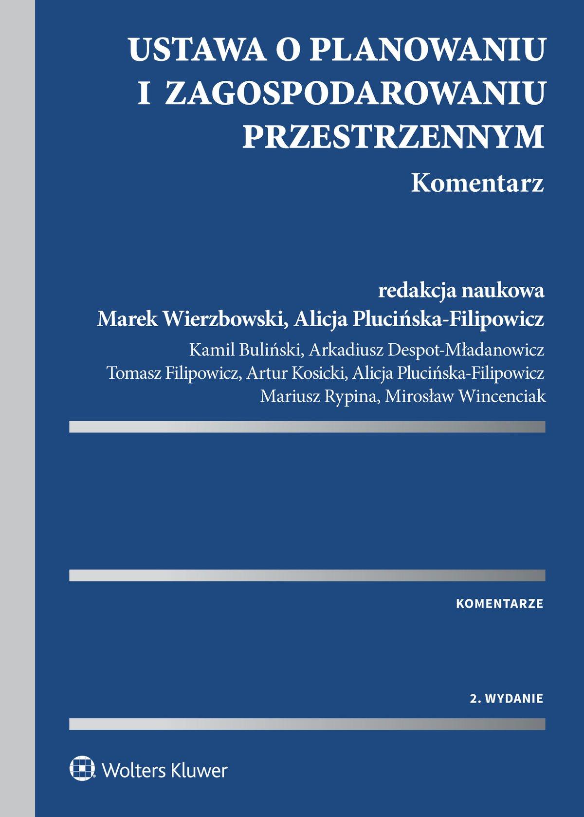 Ustawa o planowaniu i zagospodarowaniu przestrzennym. Komentarz - Ebook (Książka EPUB) do pobrania w formacie EPUB