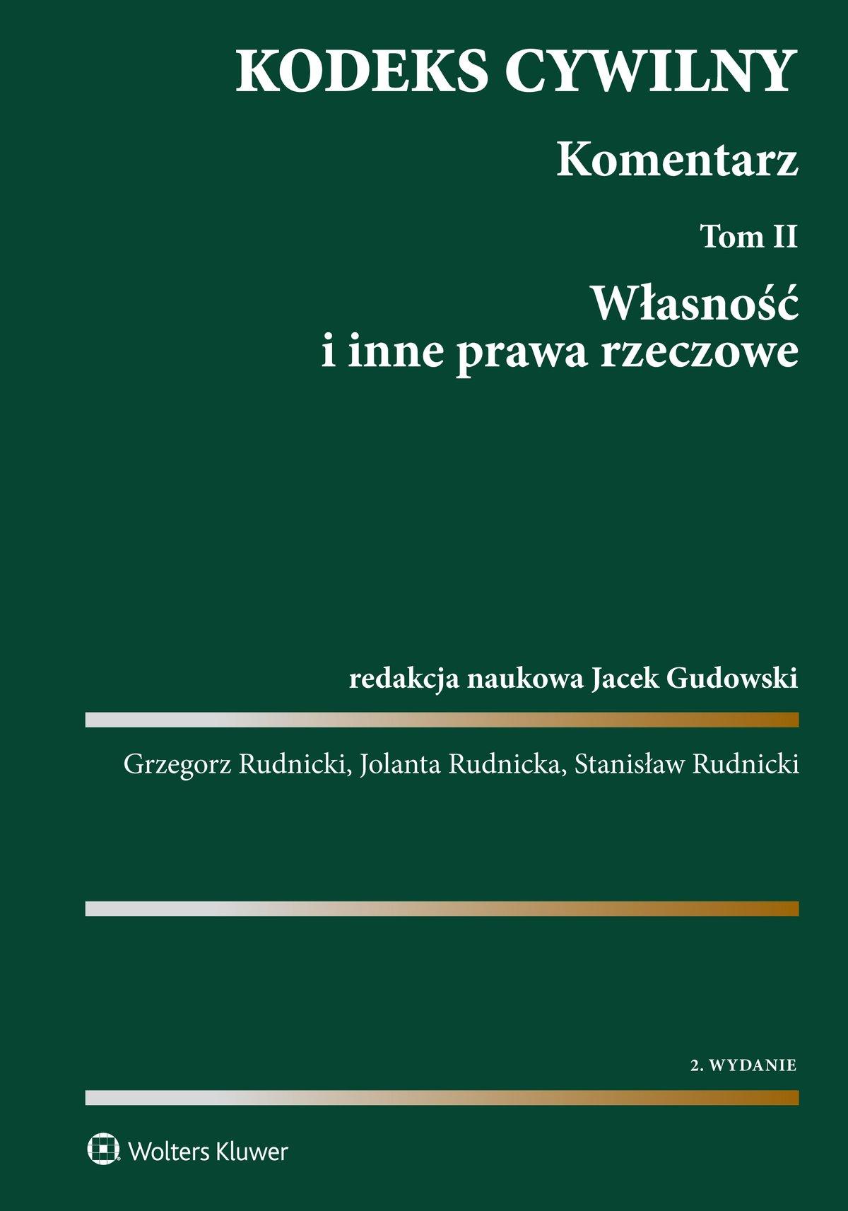 Kodeks cywilny. Komentarz. Tom 2. Własność i inne prawa rzeczowe - Ebook (Książka EPUB) do pobrania w formacie EPUB