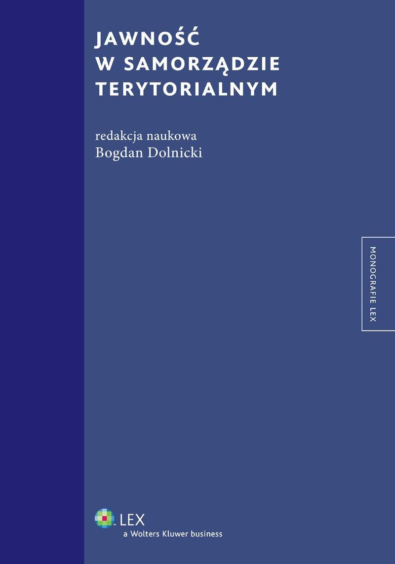 Jawność w samorządzie terytorialnym - Ebook (Książka EPUB) do pobrania w formacie EPUB