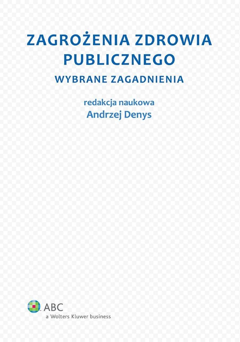 Zagrożenia zdrowia publicznego. Część 1. Wybrane zagadnienia - Ebook (Książka EPUB) do pobrania w formacie EPUB