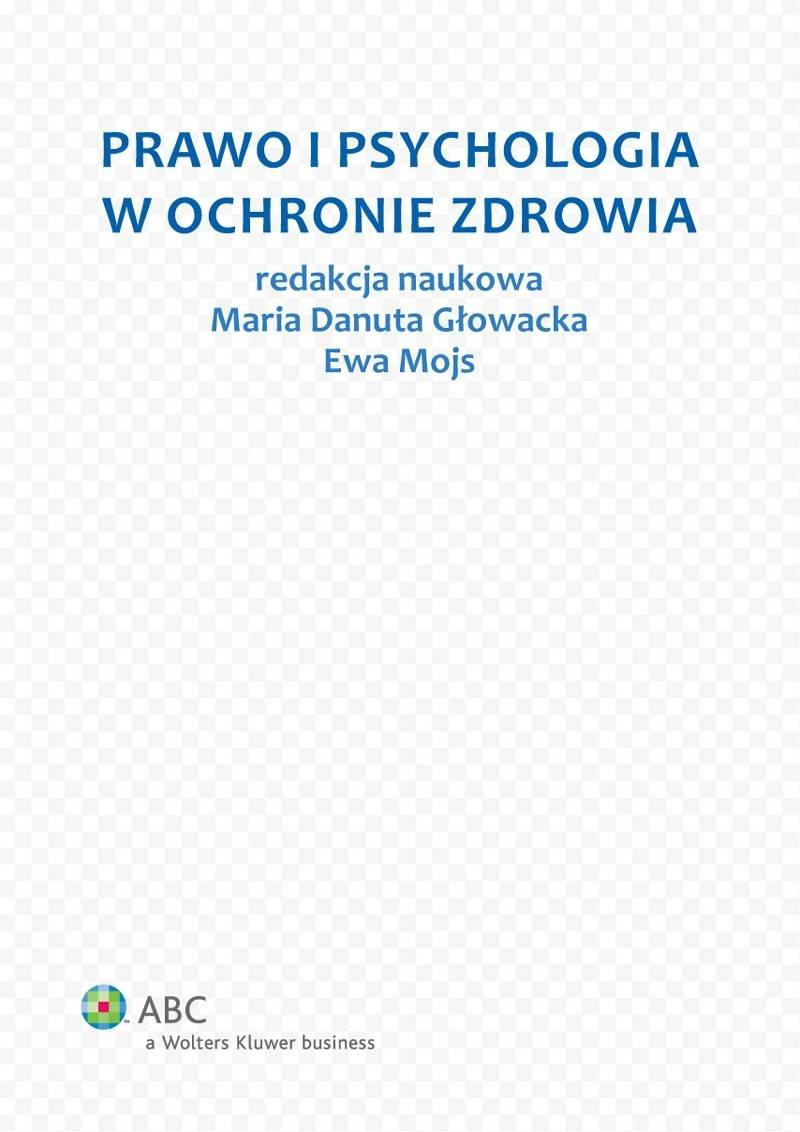 Prawo i psychologia w ochronie zdrowia - Ebook (Książka EPUB) do pobrania w formacie EPUB