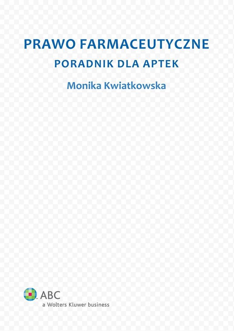 Prawo farmaceutyczne. Poradnik dla aptek - Ebook (Książka EPUB) do pobrania w formacie EPUB
