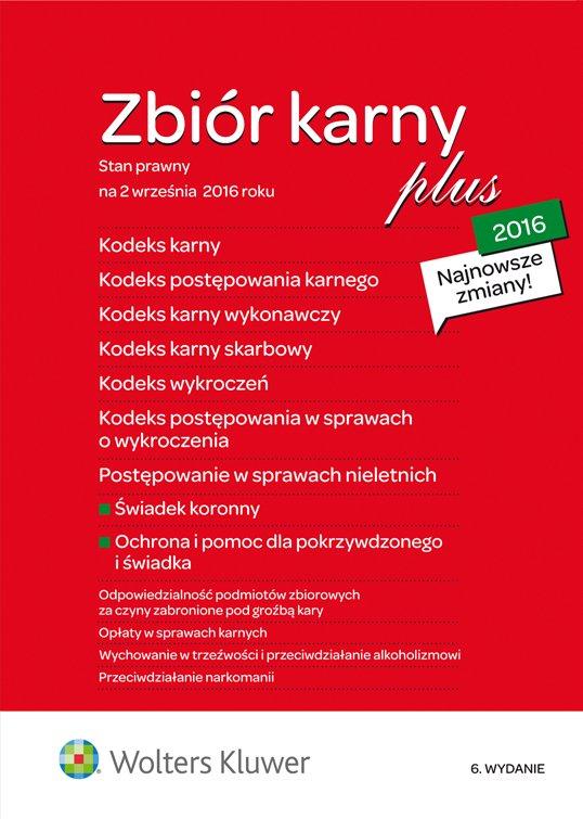 Kodeks karny 2016 PLUS - zbiór przepisów - Ebook (Książka PDF) do pobrania w formacie PDF