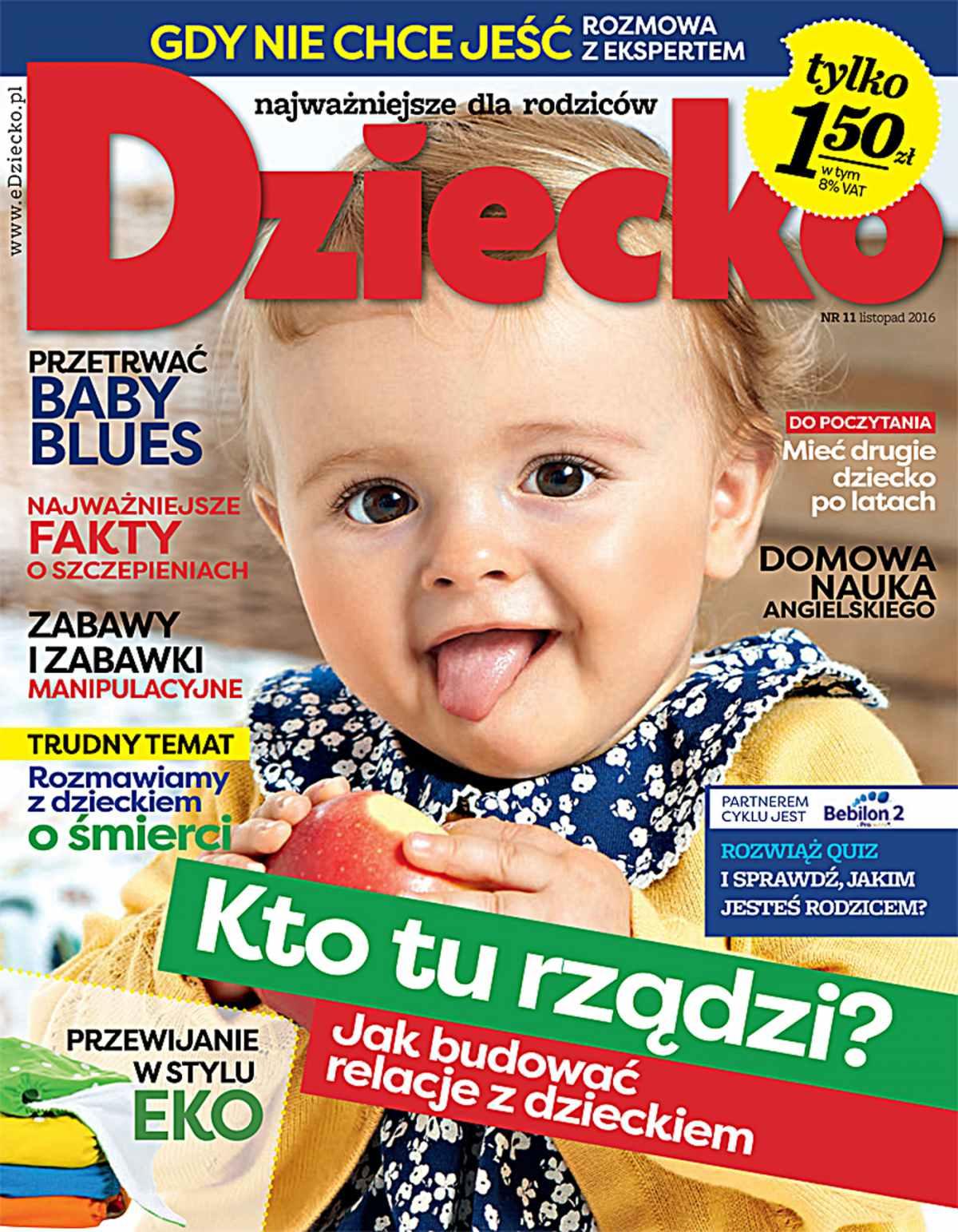 Dziecko 11/2016 - Ebook (Książka PDF) do pobrania w formacie PDF