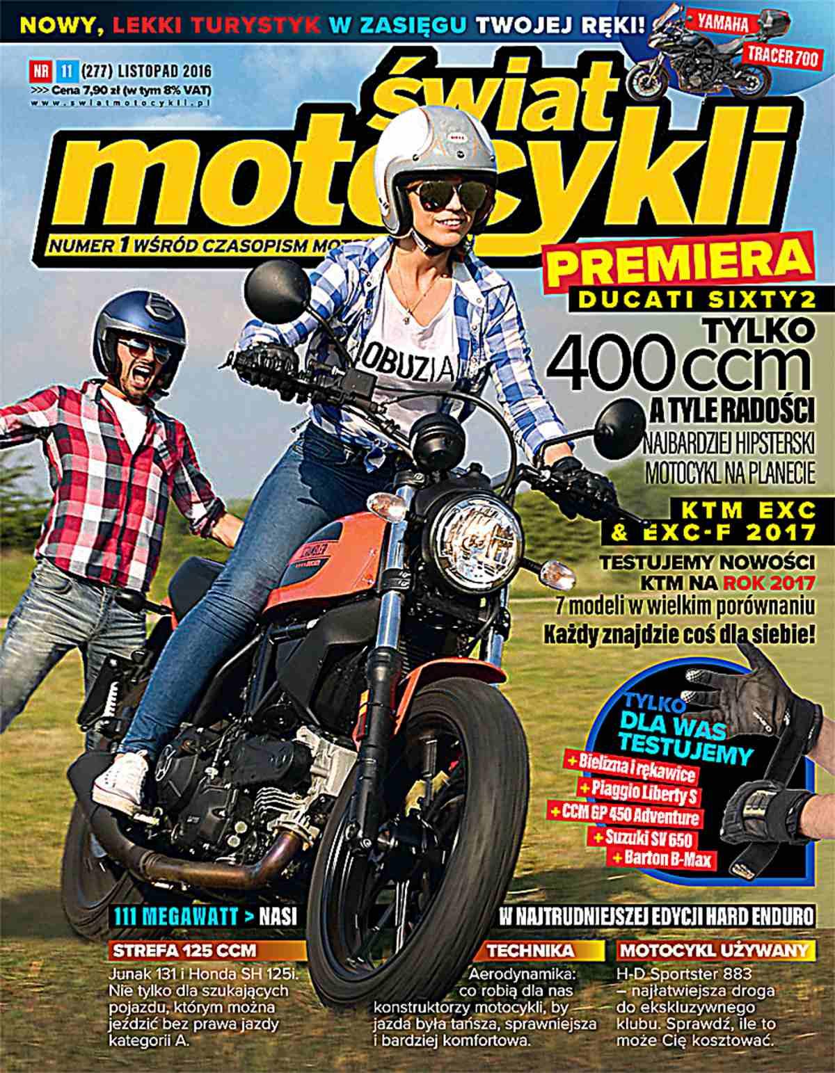 Świat Motocykli 11/2016 - Ebook (Książka PDF) do pobrania w formacie PDF