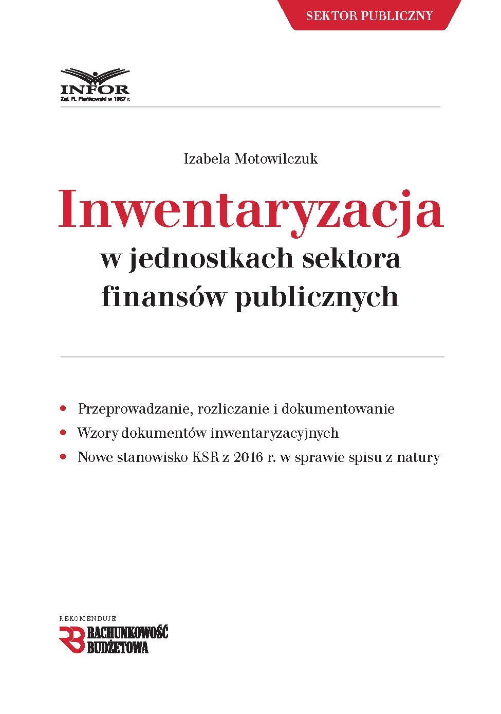 Inwentaryzacja w jednostkach sektora finansów publicznych - Ebook (Książka PDF) do pobrania w formacie PDF