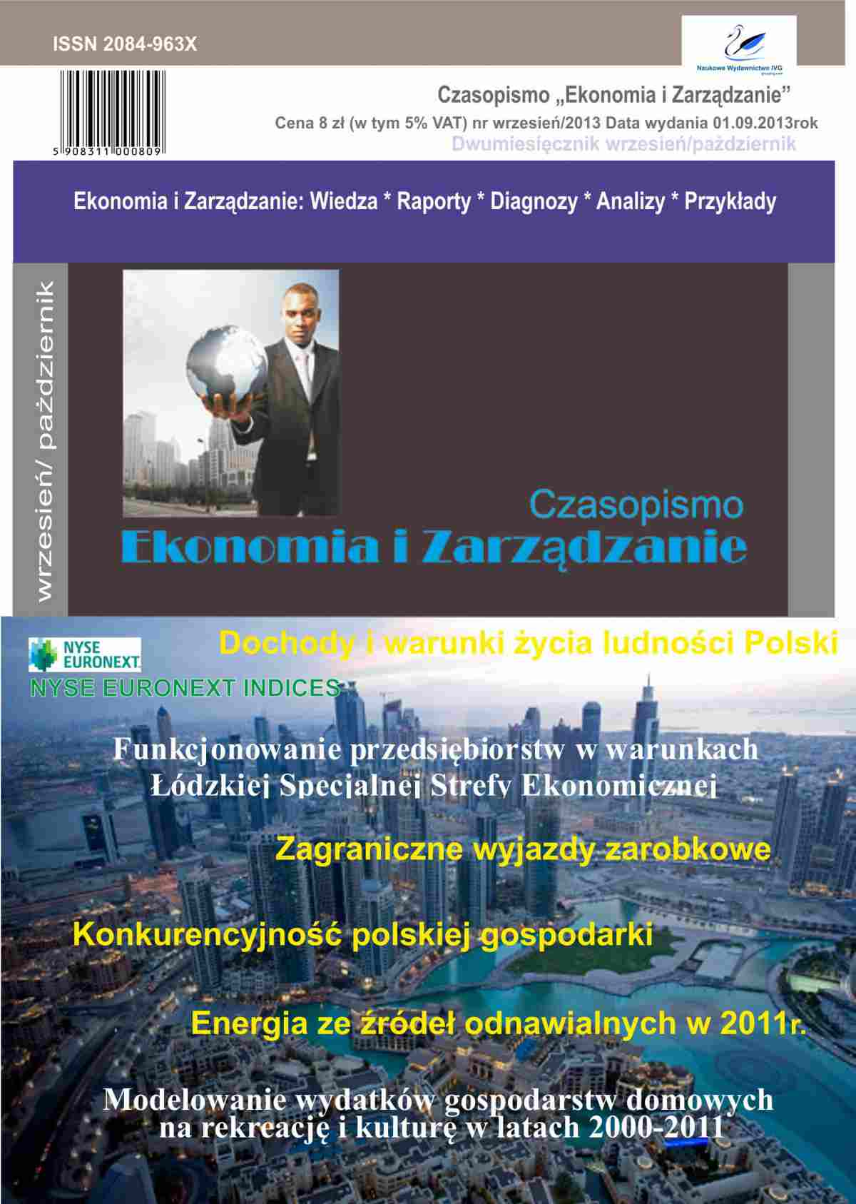 Czasopismo Ekonomia i Zarządzanie nr 5 wrz/2013 - Ebook (Książka PDF) do pobrania w formacie PDF