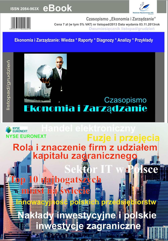 Czasopismo Ekonomia i Zarządzanie nr 6 lis/2013 - Ebook (Książka PDF) do pobrania w formacie PDF