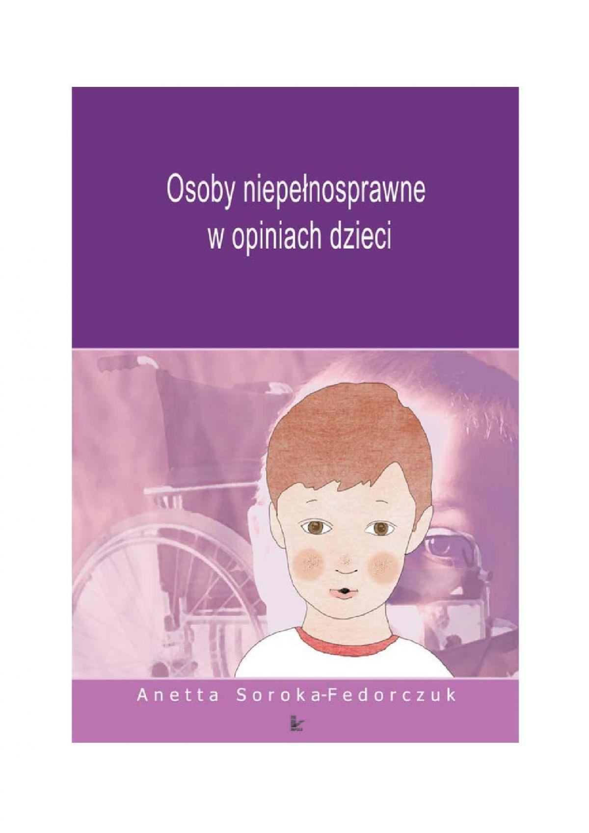 Osoby niepełnosprawne w opiniach dzieci - Ebook (Książka PDF) do pobrania w formacie PDF