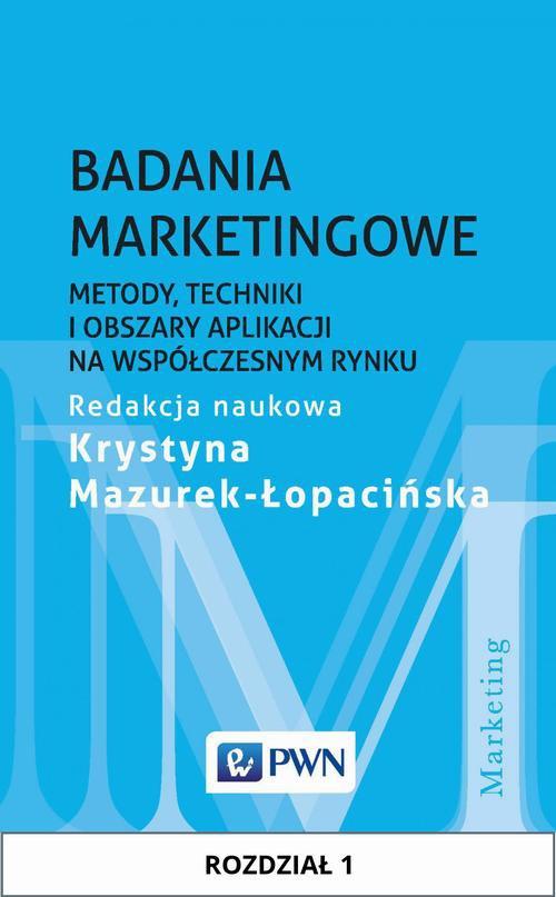 Badania marketingowe. Rozdział 1 - Ebook (Książka EPUB) do pobrania w formacie EPUB
