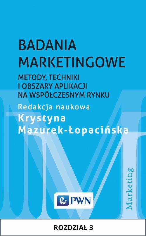 Badania marketingowe. Rozdział 3 - Ebook (Książka EPUB) do pobrania w formacie EPUB