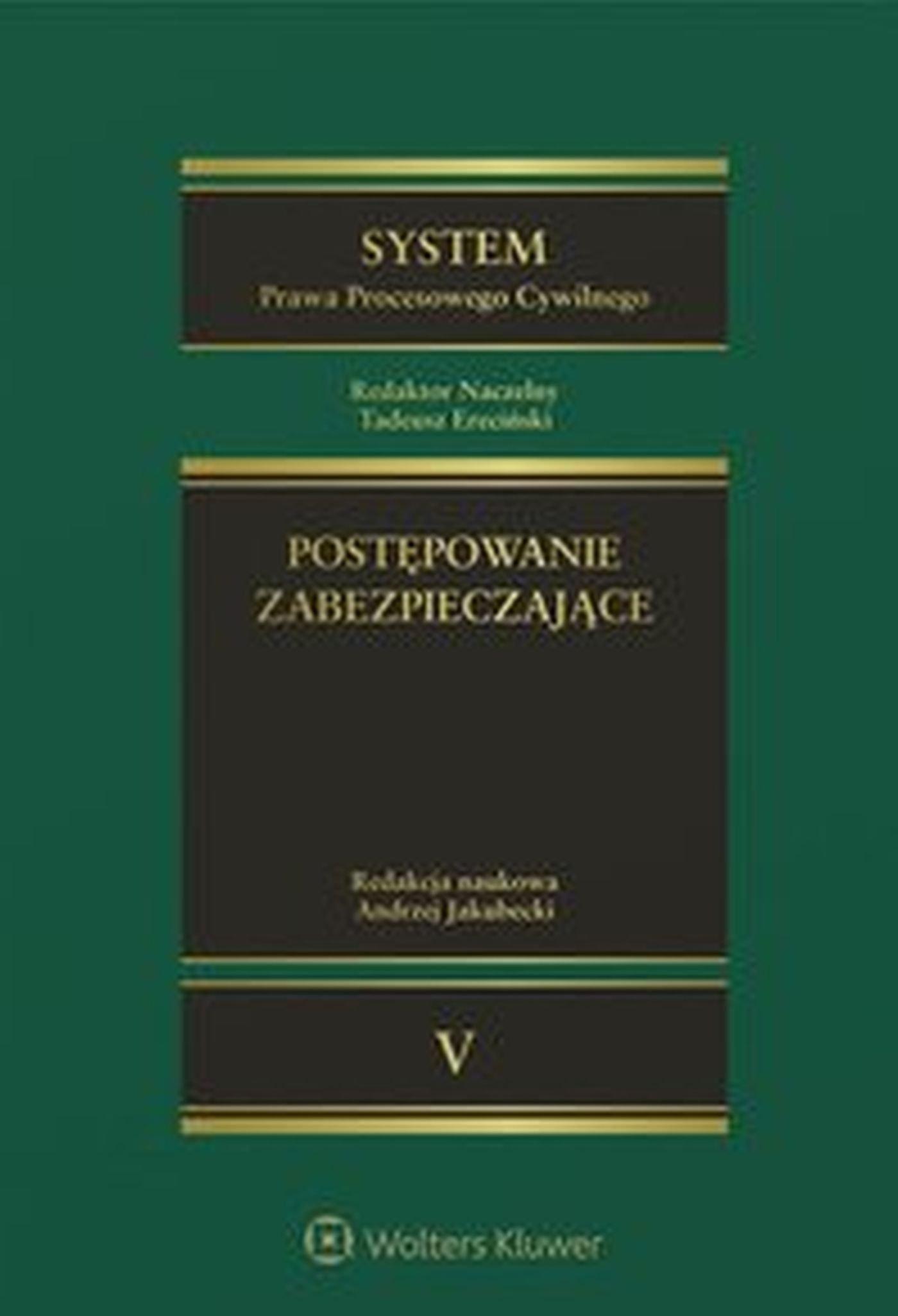 System Prawa Procesowego Cywilnego. TOM 5. Postępowanie zabezpieczające - Ebook (Książka EPUB) do pobrania w formacie EPUB