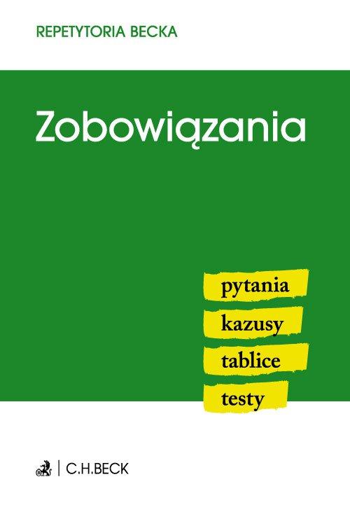 Zobowiązania. Pytania. Kazusy. Tablice. Testy - Ebook (Książka PDF) do pobrania w formacie PDF