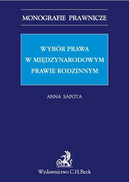 Wybór prawa w międzynarodowym prawie rodzinnym - Ebook (Książka PDF) do pobrania w formacie PDF