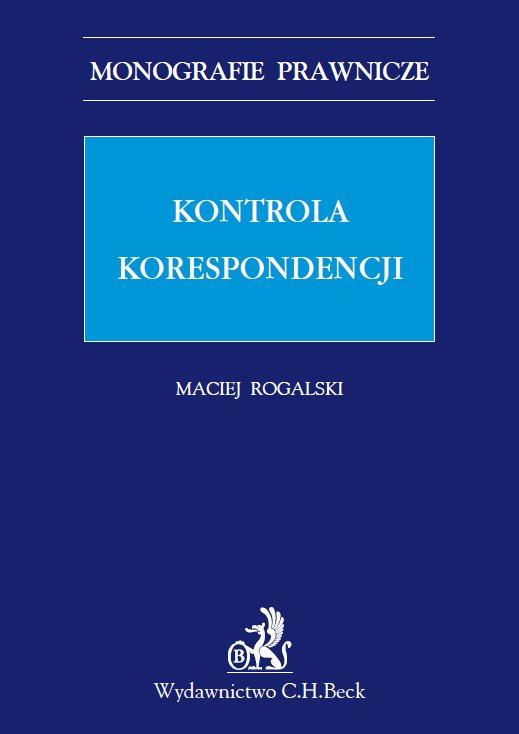 Kontrola korespondencji - Ebook (Książka PDF) do pobrania w formacie PDF