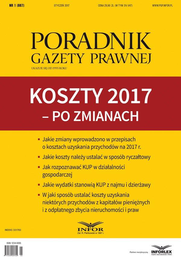 Koszty 2017 - po zmianach - Ebook (Książka PDF) do pobrania w formacie PDF