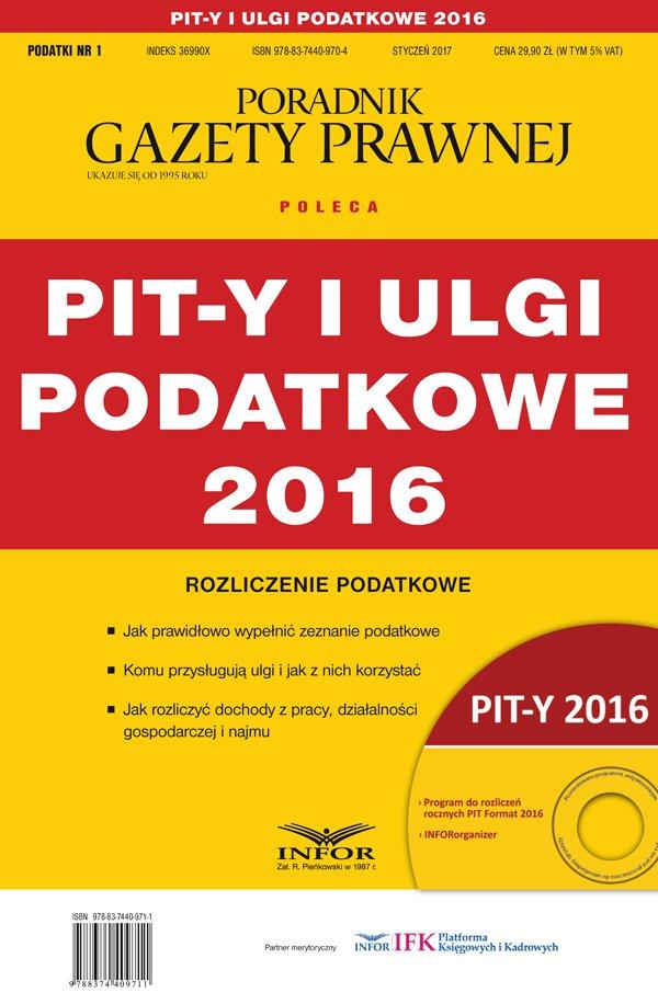 PIT-y i ulgi podatkowe 2016 - Ebook (Książka PDF) do pobrania w formacie PDF