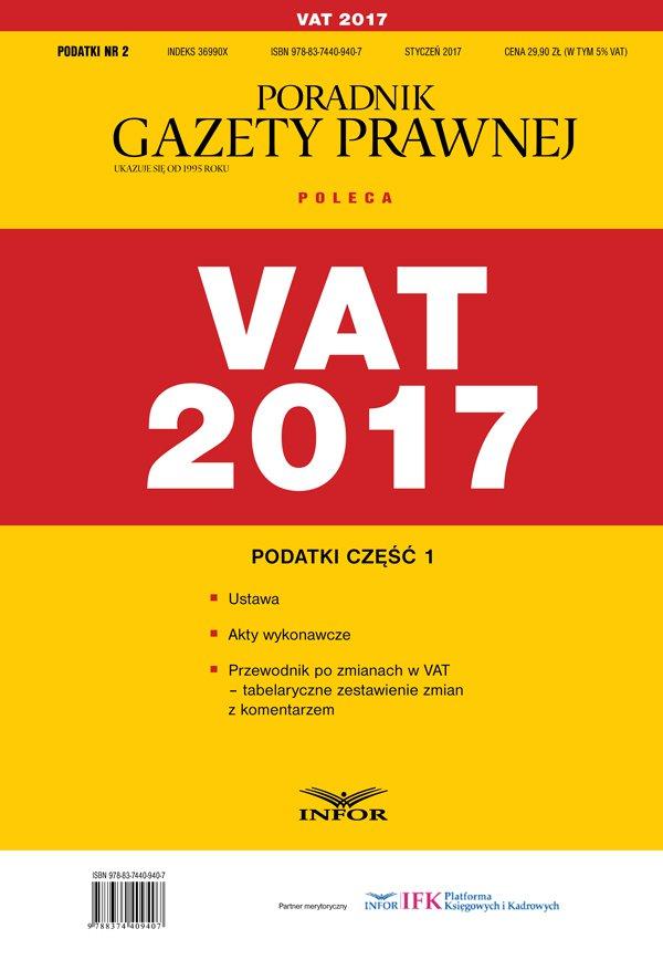 Podatki cz.1 VAT 2017 - Ebook (Książka PDF) do pobrania w formacie PDF