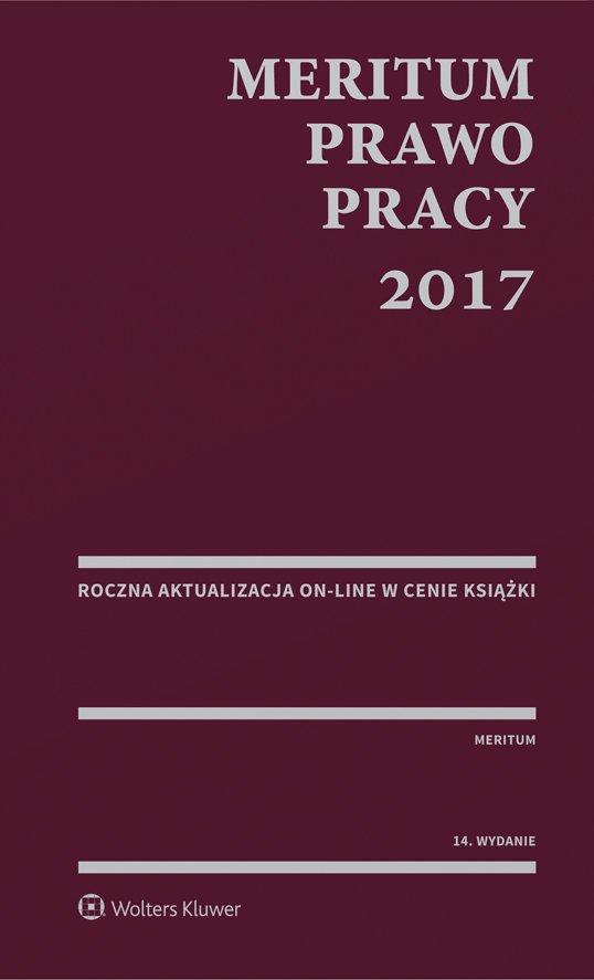MERITUM Prawo pracy 2017 - Ebook (Książka PDF) do pobrania w formacie PDF