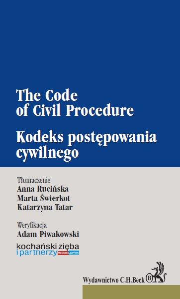 Kodeks postępowania cywilnego. The Code of Civil Procedure - Ebook (Książka PDF) do pobrania w formacie PDF